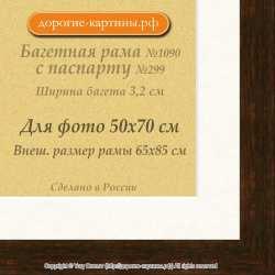 Фоторамка №1090 с паспарту для 50x70
