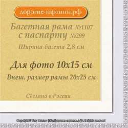 Фоторамка №1107 с паспарту для 10x15