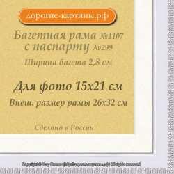 Фоторамка №1107 с паспарту для 15x21