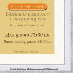 Фоторамка №1107 с паспарту для 21x30