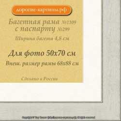 Фоторамка №1109 с паспарту для 50x70