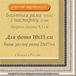 Фоторамка №1114 с паспарту для 10x15
