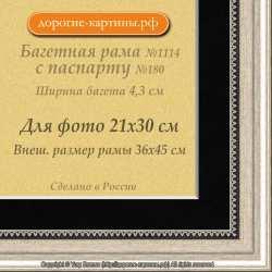 Фоторамка №1114 с паспарту для 21x30