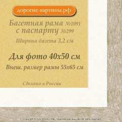 Фоторамка №1091 с паспарту для 40x50