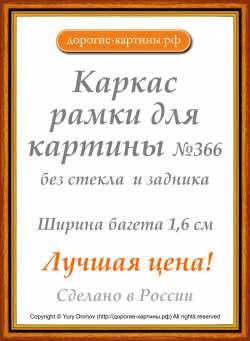 Рама №366 40x50см Коричневая