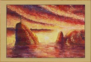 Крым. Облачный закат (фрагмент III)