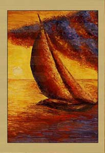 Крым. Лодка перед штормом (фрагмент II)