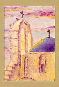 Греция. Церковь на закате I