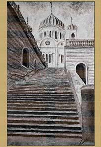 Москва. Храм Христа Спасителя.. Картина. Холст. Мосло.
