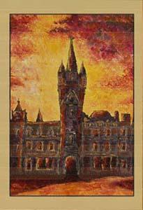 Замок в закате V. Картина. Холст. Мосло.