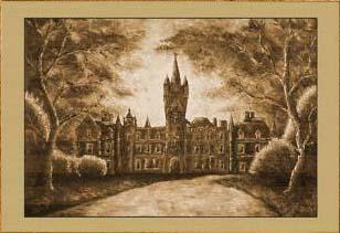 Замок в закате X. Картина. Холст. Мосло.