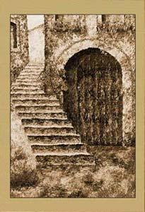 Дворик. Лестница (фрагмент III)