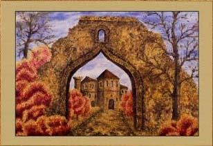 Осень. Замок (фрагмент III). Картина. Холст. Мосло.