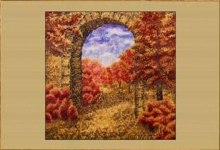 Осень. Арка.. Картина. Холст. Мосло.