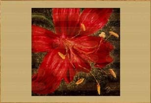 Красная лилия I. Картина. Холст. Мосло.