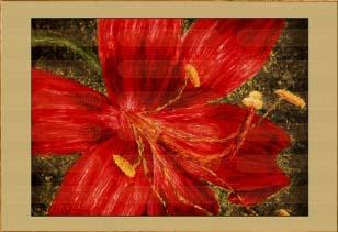 Красная лилия I (фрагмент I)