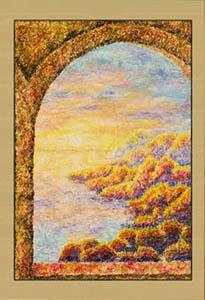 Галерея. Ранний рассвет (фрагмент III). Картина. Холст. Мосло.