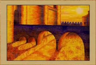 Крепость Каркассон. Рассвет (фрагмент II)