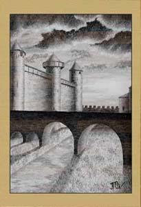Крепость Каркассон. Рассвет (фрагмент V)