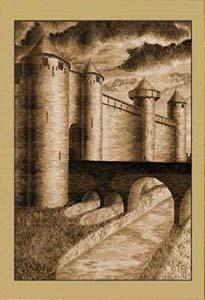 Крепость Каркассон. Рассвет (фрагмент IX)